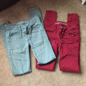 Set of two American Eagle super stretch jeggings